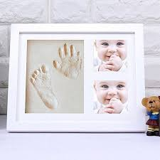 louis will baby handprint footprint picture frame kit unique baby shower gifts set for registry memorable keepsake box decorations for baby shower gifts