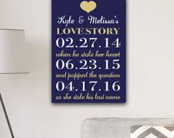 wedding date canvas etsy Wedding Date On Canvas our love story canvas print love story dates canvas print wedding canvas anniversary wedding date canvas
