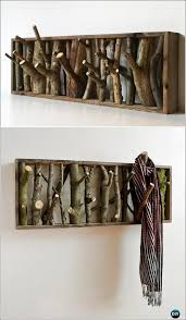 Tree Branch Coat Rack Impressive DIY Tree Branch Coat Rack Instructions Raw Wood Logs And Stumps
