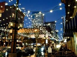 commercial outdoor string lights with elegant garden and light lamp