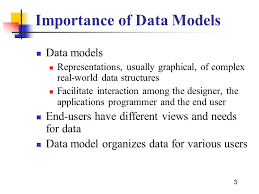 1 Data Models 2 Overview Why Data Models Are Important