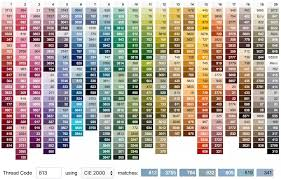 Dmc Color Chart List 42 Paradigmatic Cross Stitch Color Chart Threads