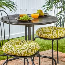D Round 15inch Outdoor Bistro Chair Cushions Set Of 2