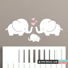 pink elephant wall decals for nursery canada decor we