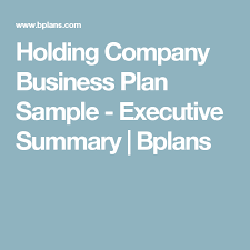 Holding Company Business Plan Sample - Executive Summary   Bplans    Restaurant business plan, Bakery business plan, Restaurant business plan  sample