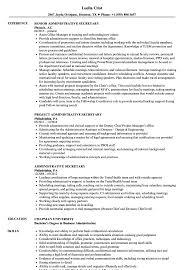 Administrative Secretary Resume Samples Velvet Jobs