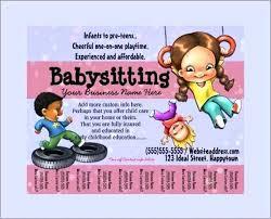Babysitting Flyer Template Babysitting Flyers Template Woodnartstudio Co