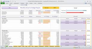 Budget Tracking Template Delectable Monthly Budget Spreadsheet For Excel BuyExcelTemplates