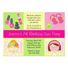 Mani Pedi Spa Birthday Party Invitation