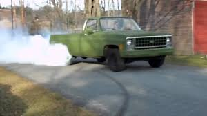 1980 Chevy pickup burnout - YouTube