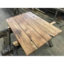 Eichenbohle Brett Tischplatte Regal Fensterbank Struktur Gebürstet Geölt 100x20x35cm Gerüstbohle