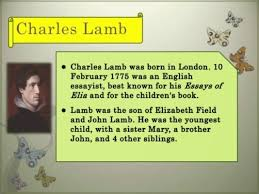 essays of elia charles lamb dissertation abstracts paper writers charles lamb
