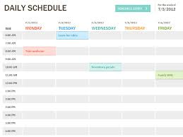 excel templates scheduling daily schedule template printable daily planner template excel