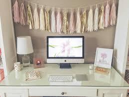 feminine office decor. Girly Office Decor Kateus Arteriors Pink Black And White Feminine Home Rhpinterestcom Design Cubicle Holiday