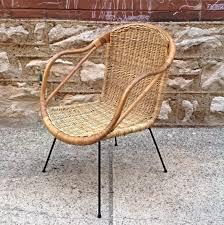 B Mid Century Modern Vintage Wicker Chair CalAsia  Nice Mid Century Modern  Vintage Wicker