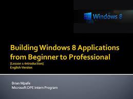 Brian Mpafe Microsoft Dpe Intern Program Purpose Of Training