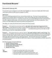 Functional Resume Pdf Sample Functional Resume Pdf
