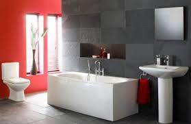 Bathroom Design Magnificent Red Bathroom Decor Black And White