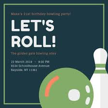 Bowling Party Invitation Customize 95 Bowling Invitation Templates Online Canva