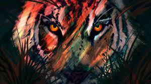 Tiger Digital Art Wallpaper 4k Ultra HD ...