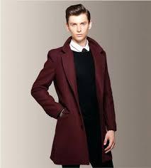 mens red trench coat man overcoat trench coat red blends wine long men winter dress long