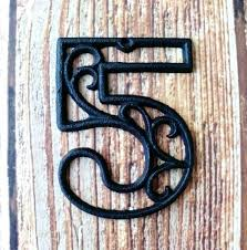 Decorative Metal Yard Signs Decorative House Numbers Handcrafted Four Digit Ceramic House 89