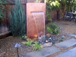 Outside Water Fountain Designs How To Build A Copper Water Wall How Tos Diy