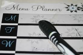 one week menu planner meal planning 101 display your menu crystalandcomp com