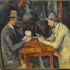 the card players paul cezanne 1896 oil painting 48 x 58 cm musée d orsay paris france rmn grand palais musée d orsay hervé lewandowski