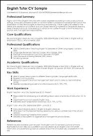 Resume In English Sample How To Write A In Example English Resume