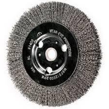 bench grinder wire wheel. pferd 81448 bench wire wheel; 8 inch x 0.008 wire, carbon steel grinder wheel