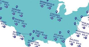 Map Shows Average Babysitting Rates In Major U S Cities