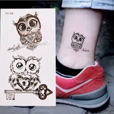 Hot Waterproof Cartoon Owl Cute Temporary Decal Fake Tattoo Sticker Body Art Decor