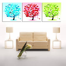3 panels no frame small trees home wall decor painting