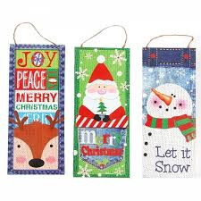 Flomo Christmas Vertical Hanging Fabric Banners