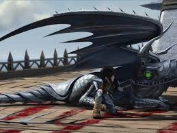 Heather And Windshear The Razorwhip Dragon From Dreamworks Dragons