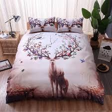 fruit deer pattern d bedding set luxury duvet cover twin queen king size home textiles bed x simple twin bed comforter set