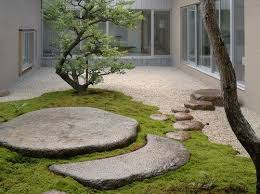 I wonder if people would think aliens had landed in my back yard? Either  way, I love the look of zen in my garden. New design style