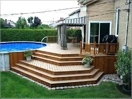 round pool decks plans above ground swimming best deck ideas only images of w14