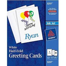 Avery Greeting Cards Avery Half Fold Greeting Cards Set Of 25