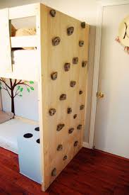 bunk bed climbing wall via finch found