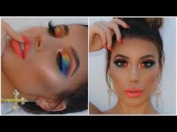 rainbow colourful makeup look summer makeup