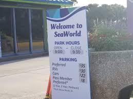 seaworld s new parking s make