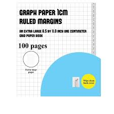 Graph Paper 1 Cm Ruled Margins An Extra Large 8 5 By 11 0 Inch Graph Grid Book