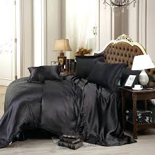 black bedding queen custom made black luxury bedding sets solid satin 4 queen king size home black bedding