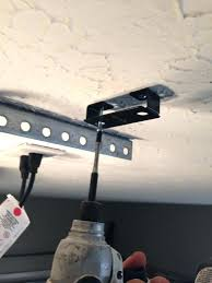 garage door opener mounting bracket install genie sears reinforcement