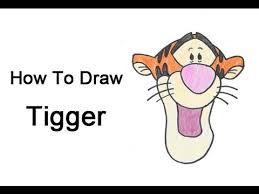 tigger drawings step by step. Delighful Tigger How To Draw Tigger In Drawings Step By D