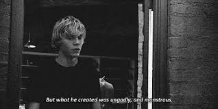 Tate Langdon Quotes Simple Gif Tate Langdon American Horror Story Quote Depressed Depression
