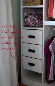 master closet system drawers