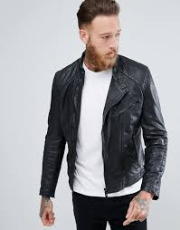 mango man leather biker jacket l36q6 for men
